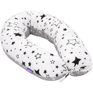 Schwangerschaftskissen [Schwarze Sterne] Stillkissen Lagerungskissen Seitenschläferkissen XL 170cm