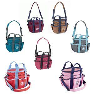 USG Pferdeputztasche Putztasche Pferdeputzbeutel Putzbeutel große Farbauswahl , Farbe:rot/blau