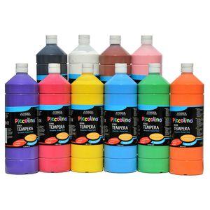 Piccolino Ready Mix Schultempera Farben Set 10x1000 ml