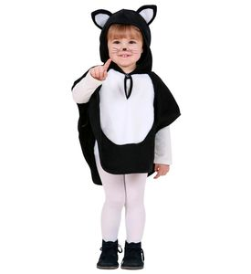 Kinder Katzen-Kostüm (Poncho) Größe: 110