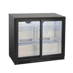 Barkühlschränk mit 2 Schiebetüren, 175 Liter, 900 x 526 x 865 mm