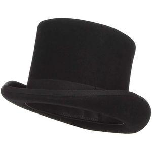 Zylinder Hut mit Satinband Schwarz für Erwachsene Chapeau Zylinderhut