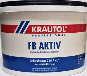 5L Krautol FB Aktiv Antischimmel-Innenfarbe weiß