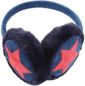 Kinder Winter Ohrenschützer Weichem Plüsch Bedeckt Ohrenschützer Verstellbare Ohrenschützer Waschbar Ohrenwärmer für Skifahren Laufen Camping Radfahren, Marine, Plüsch— QingShop