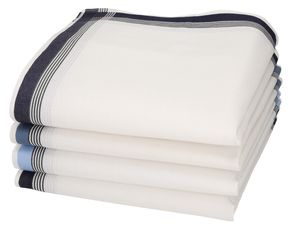 Betz 4 Stück Herren Stoff Taschentücher in der Geschenkbox 100% Baumwolle Farbe - Dessin 3