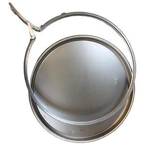 Fassdeckel + Spannring 57cm ROH für Blechfass Ölfass Tonne Metallfass 210 Liter