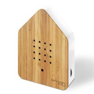 Zwitscherbox - Bambus Holz Weiss