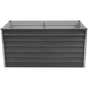 dereoir Hochbeet 160 x 80 x 77 cm Verzinkter Stahl Grau