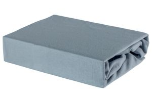 Bettlaken Spannbettlaken Laken aus Baumwolle 100% Jersey – 80x160 Grau