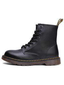 Uni Casual Sport Vintage Stiefel 8 Augen Klassische Leder Martin Stiefel,Farbe:Schwarz,Größe:40