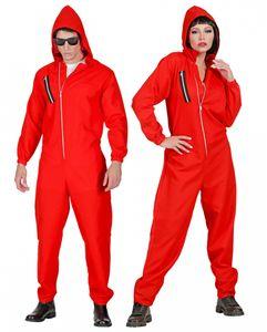 Bankräuber Kostüm Overall Uni<´ für Halloween & Fasching Größe: XXL