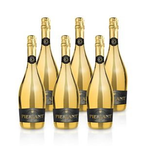 Pierlant CUVÉE D'OR Demi-Sec Blanc Schaumwein fruchtig, Paket mit:6 Flaschen