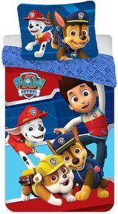 Paw Patrol - Kinder Bettwäsche Set 135x200 80x80 -  Baumwolle Ryder Blau