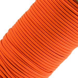 50m Spule Gummikordel Gummischnur 3mm Bekleidungsgummi Hutgummi, 27 Farben, Farbe:orange