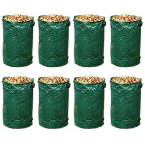 8er Set Laubsack Rasensack 120 Liter Gartensack Gartenabfallbehälter Abfall Sack für Gartenabfall Gartenabfallsack