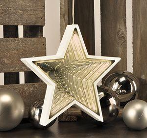 "Weihnachtsstern mit LEDs 3D ""Endlos-Effekt"" Stern Fröbelstern Leuchtstern Deko"