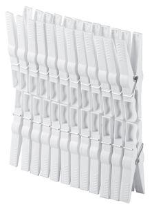 plast team Wäscheklammern aus Kunststoff weiß