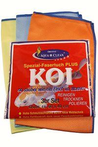 AQUA CLEAN Koi Spezialfasertücher 3er Set 60cm x 40cm
