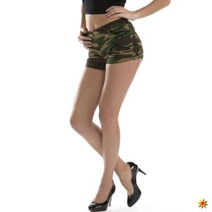 Damen Kostüm Hotpants Camouflage, Größe:S/M