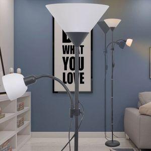 Dimmbar LED Stehlampe Stehleuchte Moderne-desgin  Standleuchte Standlampe Schwarz