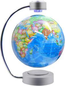 8-Zoll-schwebender Globus Beleuchteter Weltkugel Bildungskonstellationskugel mit magnetischen LED-LichternLevitation Floating Globe Weltkarte