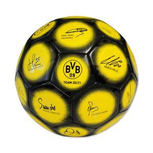 Borussia Dortmund BVB Fußball mit Unterschriften Autogrammen Team 2020/2021, 20500400