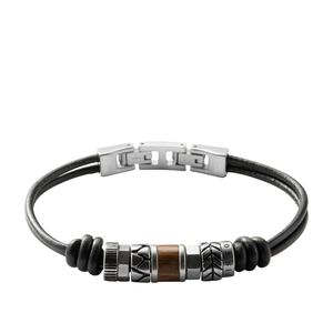Fossil Schmuck Herren Armband Leder/Edelstahl JF84196
