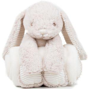 Mumbles Putziger Hase, Plüschtier mit Tuch RW5259 (Einheitsgröße) (Creme)
