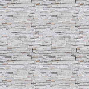 MECO Steintapete 3D Tapete Selbstklebend Ziegelstein Wandtapete 0.45 * 10M Wandaufkleber Wandpaneele Stein Mauer Klebefolie für Wohnzimmer, Schlafzimmer Flur