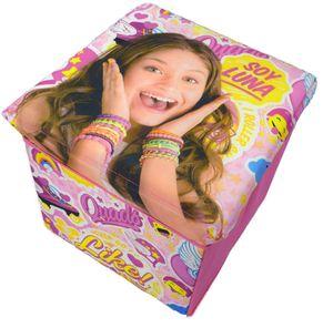 Soy Luna Sitzwürfel Sitzhocker Spielzeugkiste Klappbox pink