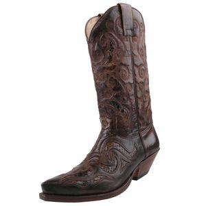 Sendra Python Cowboystiefel 7428 barbados braun, Schuhgröße:EUR 43