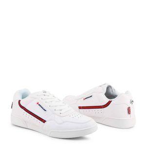 Dunlop Herren Turnschuhe Sneaker Sportschuhe Freizeit Freizeitschuhe Low-Top, Größe:EU 43, Farbe:Weiß