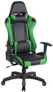 CLP Bürostuhl Miracle V2 Kunstleder höhenverstellbar und drehbar, Farbe:schwarz/grün