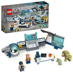 LEGO 75939 Jurassic World Dr. Wus Labor: Ausbruch der Baby-Dinosaurier, Spielzeug ab 6 Jahre mit Dinosaurier-Figuren: Triceratops & Ankylosaurus