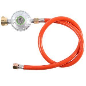TAINO Gasregler mit Schlauch für Gasgrill Druckminderer 50mbar