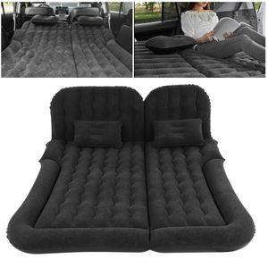 Aufblasbar Auto Luftmatratze Luftbett Isomatte Matratze Doppel Bett Gästebett für Auto Rücksitz mit Luftpumpe