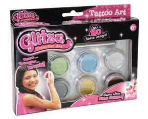 knorrtoys GLITZA Tattoo Art Set Glitzer Nägel Haut mit 80 Tattoos und Glitter