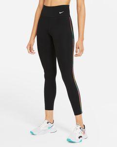 W Nike One Rainbow Ldr 7/8 Tgt Black/White M
