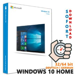 Windows 10 Home Edition   Deutsch   32 64 Bit Download Key Code Computer & Laptop