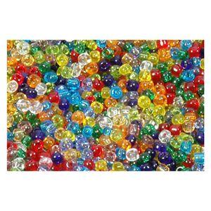 6/0 4mm Rocailles Perlen Bunt Mix, transparent - 40g (ca. 550 Stück)