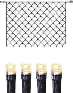 System DECOR   LED-Lichternetz   koppelbar   2x1,5m   schwarzes Kabel   100 warmweiße LEDs