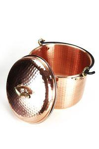 'CopperGarden®' Kupfertopf 8L, gehämmert mit Henkel & Deckel