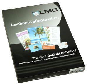 100 LMG Laminierfolien matt für A4