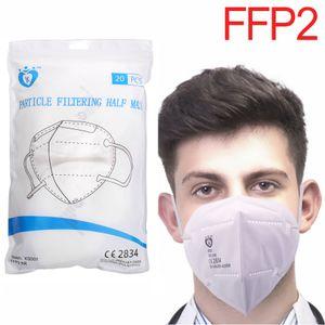 Yunhaigu® 50 Stück FFP2 Atemschutzmasken 5 lagig Maske Mundschutz mit CE Gesicht Atem Hygienemaske ,Atem Staubmaske Schutzmaske latexfrei Atemschutz Einweg Maske Hygieneschutz
