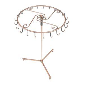 Rotierend Drehbar Schmuckständer Armbandständer Schmuckhalter Tischdeko mit 23 Stück Haken