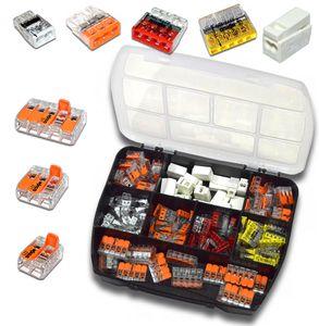 WAGO Sortimentsbox mit 140 Stück Verbindungsklemmen   Serie 221, 224, 2273   Box Set Verbindungsklemme