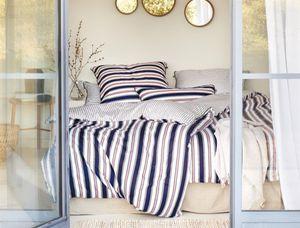 Irisette Mako-Satin Bettwäsche Set Bettwäsche 2 teilig Bettbezug 135 x 200 cm Kopfkissenbezug 80 x 80 cm Eco-K 8190-20 marine