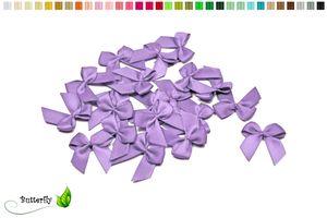 Satinschleifen 25mm, 20 Stück, Farbe:flieder 462
