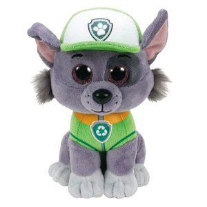 TY Beanie Boos Glubschi Paw Patrol Rocky 24cm Hund grau Stofftier Plüschtier