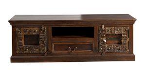 SIT Möbel Lowboard | 2 Türen,1 Schublade, 1 offenes Fach | recyceltes Altholz braun | B 150 x T 45 x H 50 cm | 05121-30 | Serie ALMIRAH